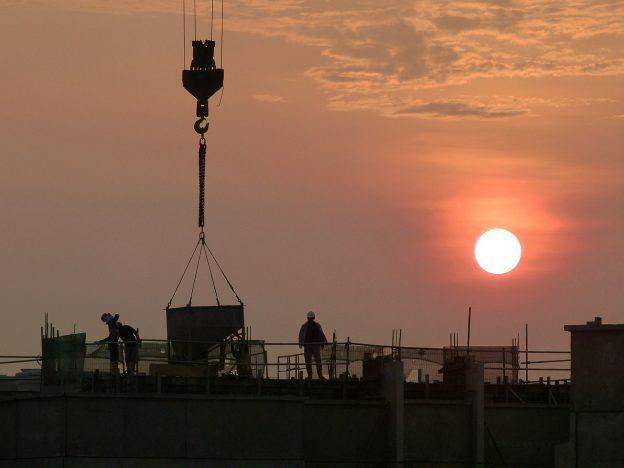 工事現場の風景