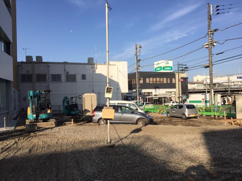 長津田駅南口再開発工事の様子(更地)