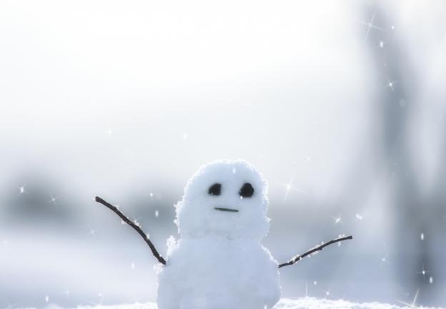 小さい雪だるま